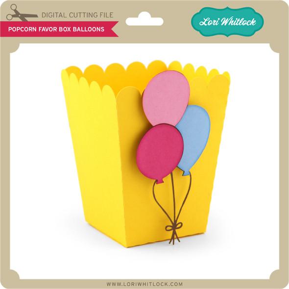 Popcorn Favor Box Balloons