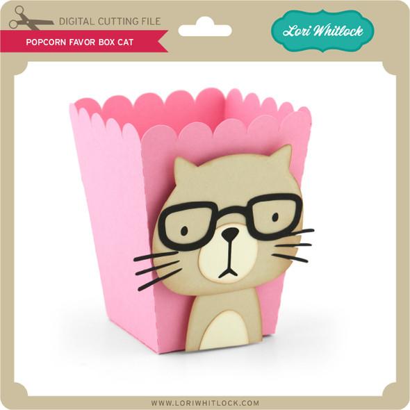 Popcorn Favor Box Cat