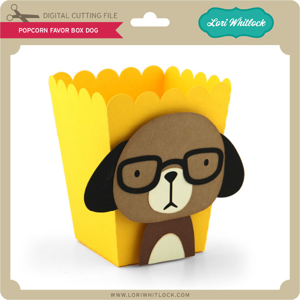 Popcorn Favor Box Dog