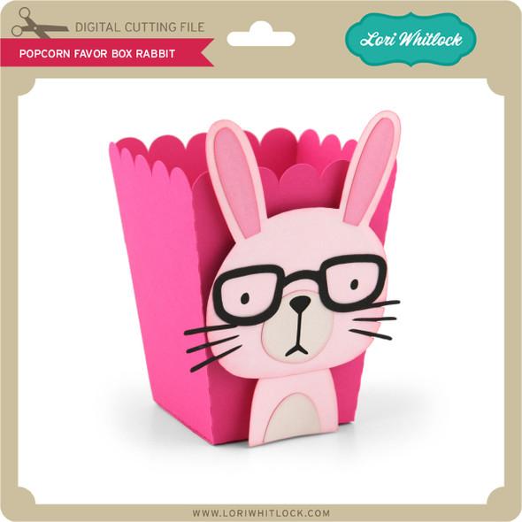 Popcorn Favor Box Rabbit