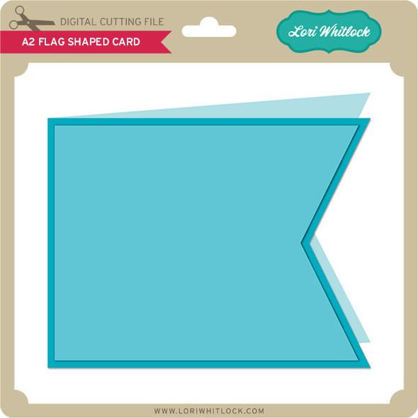 A2 Flag Shaped Card