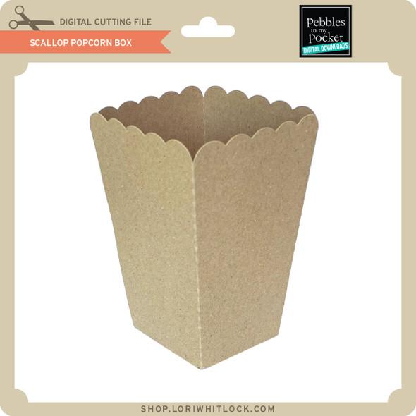Scallop Popcorn Box