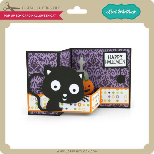 Pop Up Box Card Halloween Cat