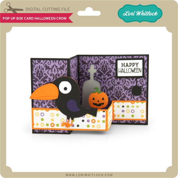 Pop Up Box Card Halloween Crow