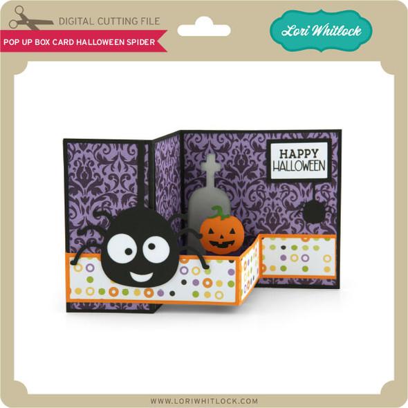 Pop Up Box Card Halloween Spider