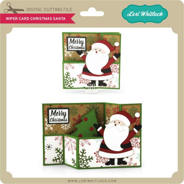 Wiper Card Christmas Santa