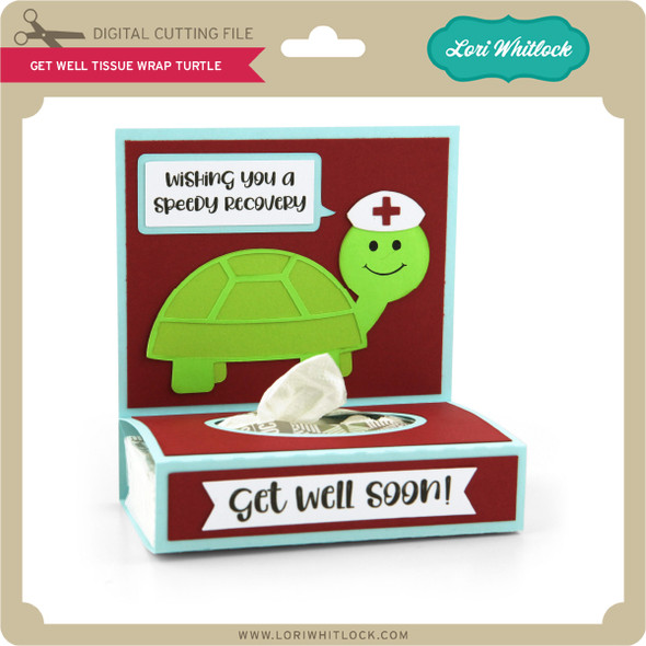 Get Well Tissue Wrap Turtle