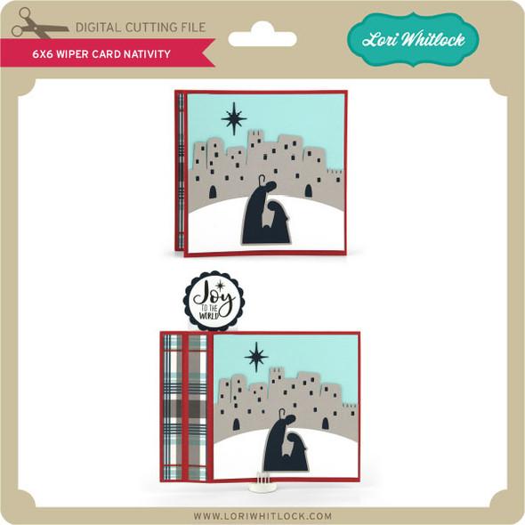 6x6 Wiper Card Christmas Nativity