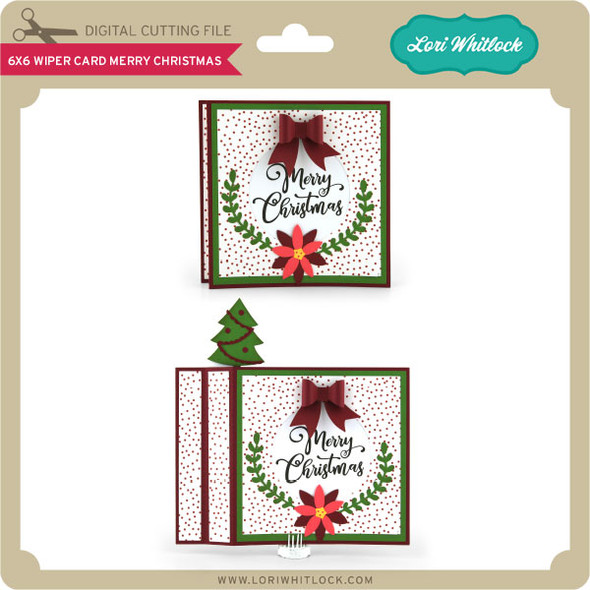 6x6 Wiper Card Merry Chirstmas