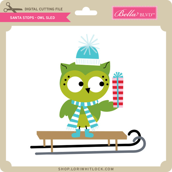 Santa Stops - Owl Sled