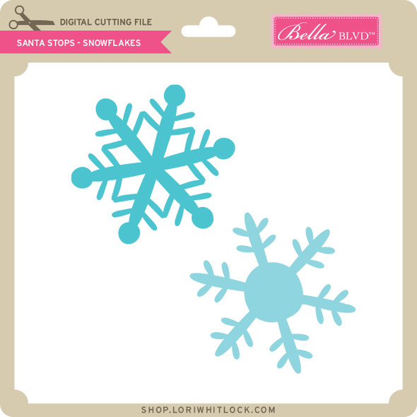 Santa Stops - Snowflakes