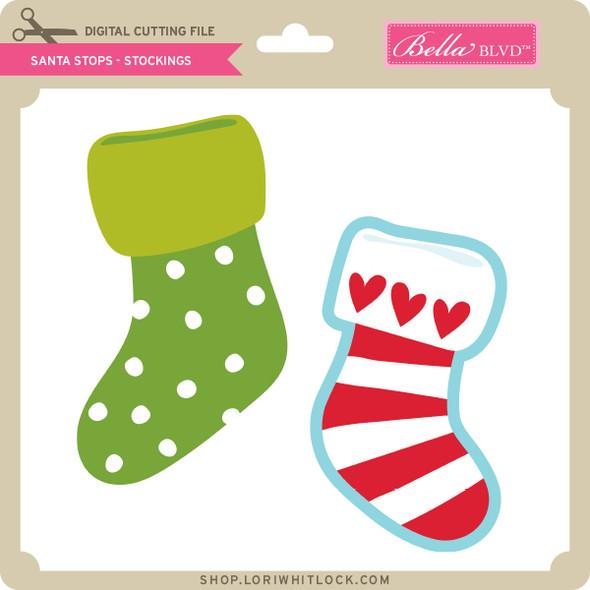 Santa Stops - Stockings