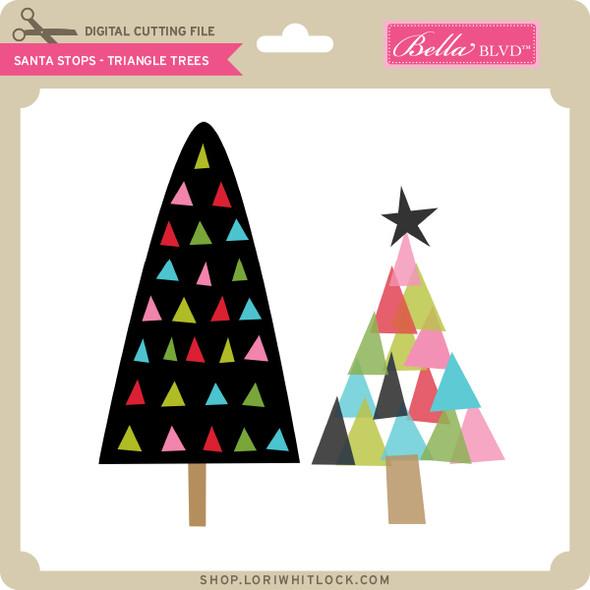 Santa Stops - Triangle Trees