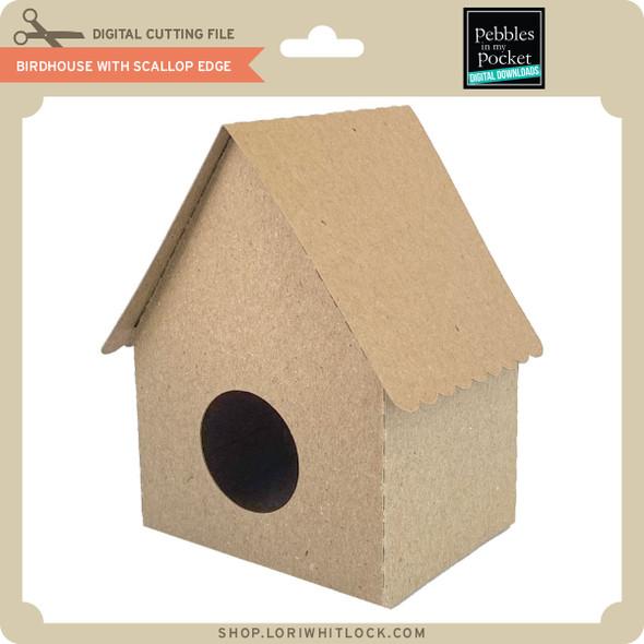 Birdhouse with Scallop Edge
