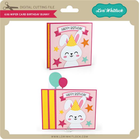 6x6 Wiper Card Birthday Bunny