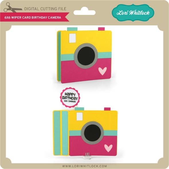6x6 Wiper Card Birthday Camera