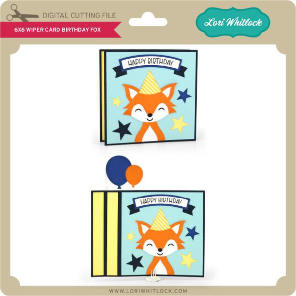 6x6 Wiper Card Birthday Fox