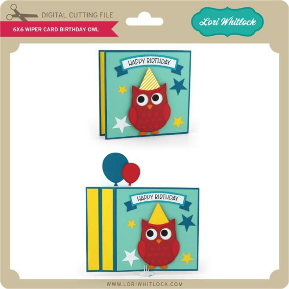6x6 Wiper Card Birthday Owl
