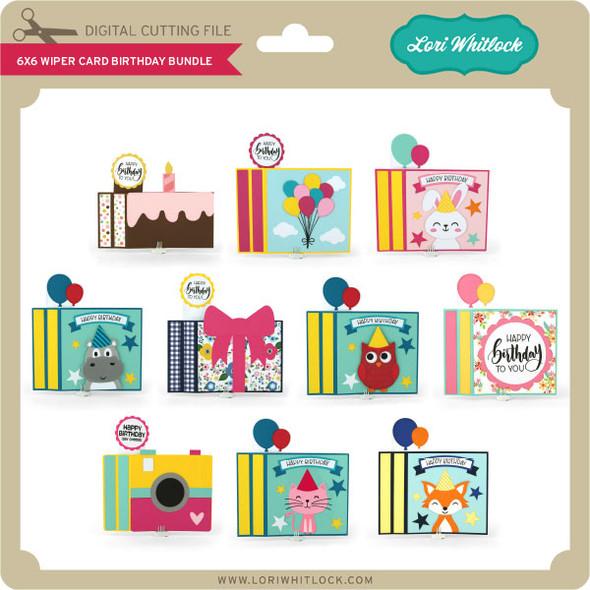 6x6 Wiper Card Birthday Bundle
