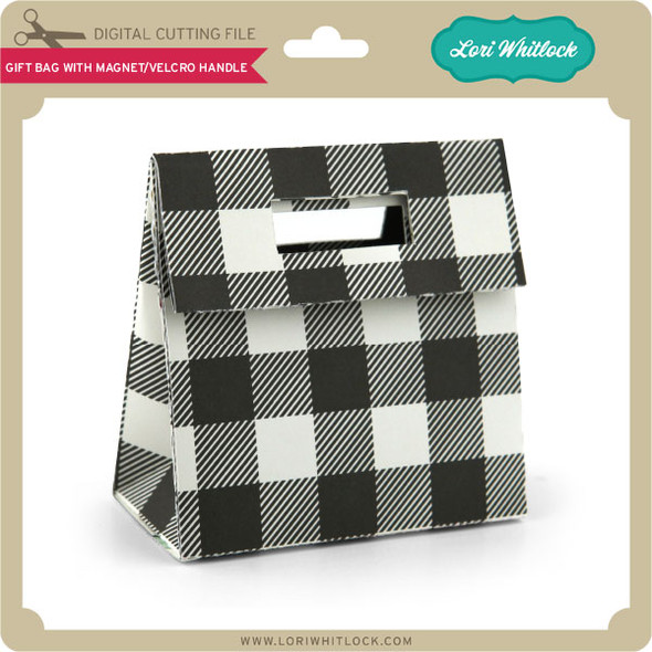 Gift Bag With Magnet Velcro Handle