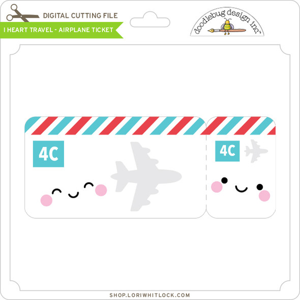 I Heart Travel - Airplane Ticket