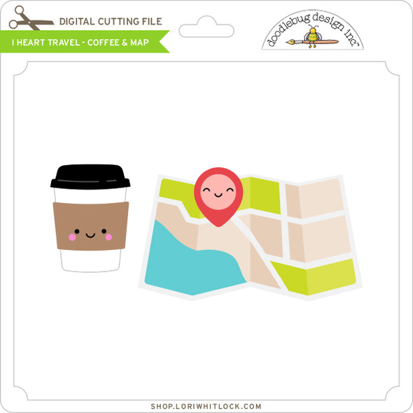 I Heart Travel - Coffee & Map