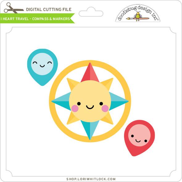 I Heart Travel - Compass & Markers