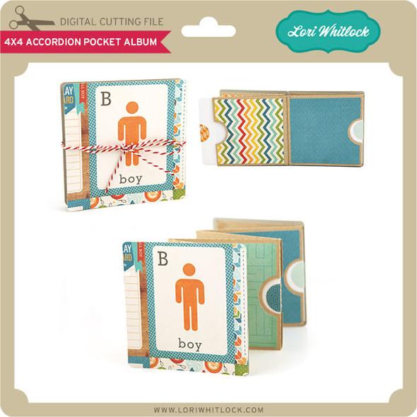 4x4 Accordion Pocket Mini Album