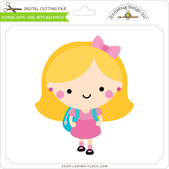 School Days - Girl with Backpack
