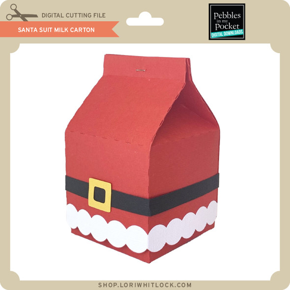 Santa Suit Milk Carton