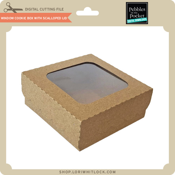 Window Cookie Box with Scalloped Lid