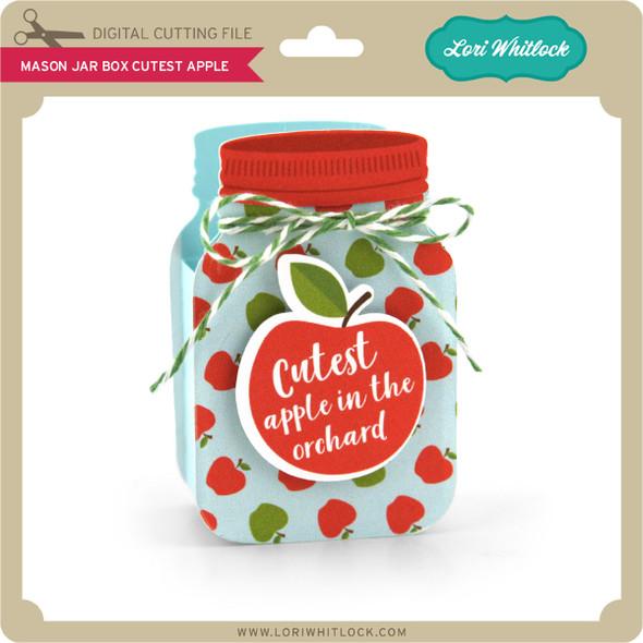 Mason Jar Box Cutest Apple