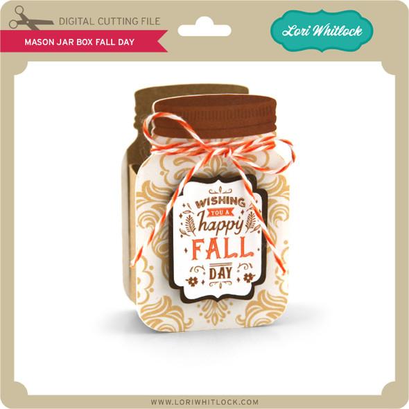 Mason Jar Box Fall Day