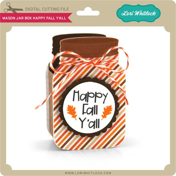 Mason Jar Box Happy Fall Y'All