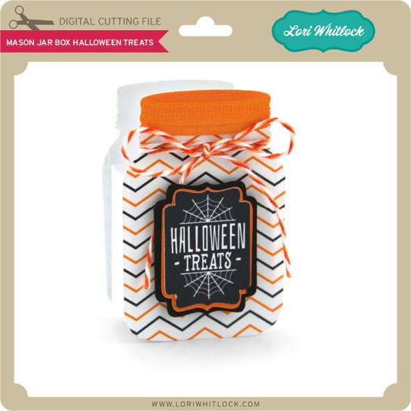 Mason Jar Box Halloween Treats