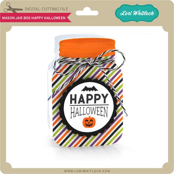 Mason Jar Box Happy Halloween