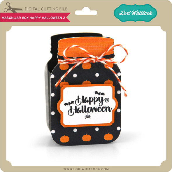 Mason Jar Box Happy Halloween 2