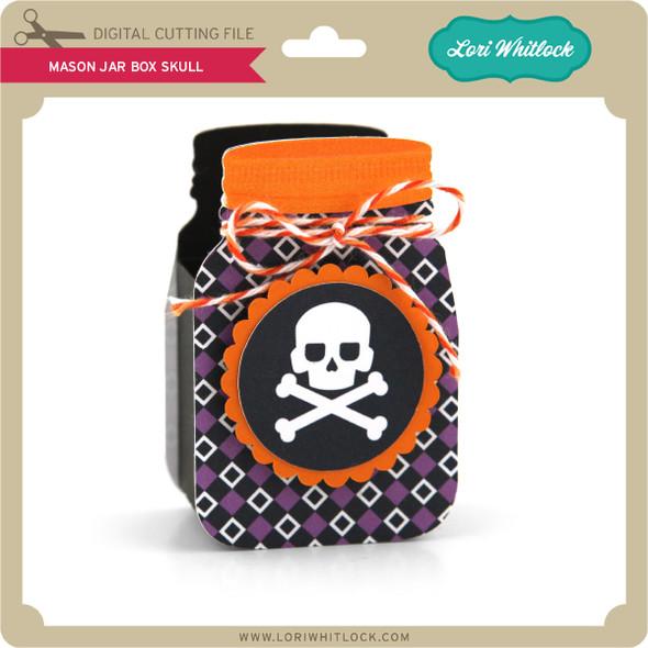 Mason Jar Box Skull