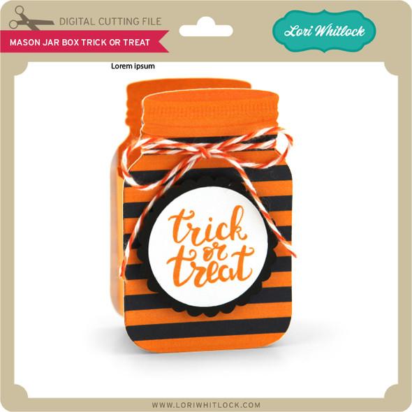 Mason Jar Box Trick or Treat