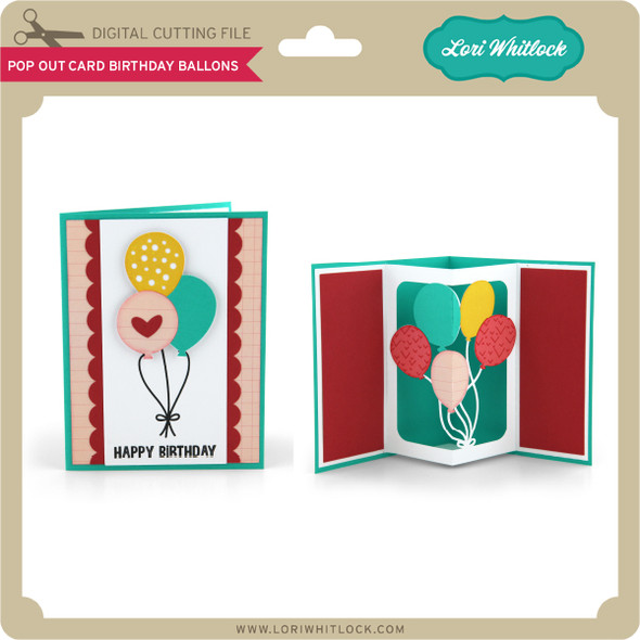 Pop Out Card Birthday Balloons 2