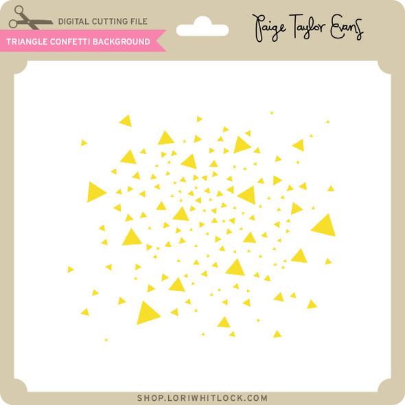 Triangle Confetti Background