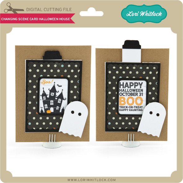 Changing Scene Card Halloween House