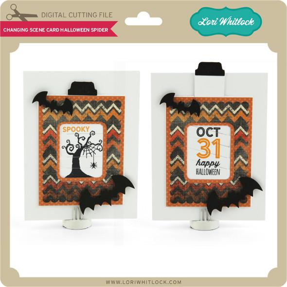 Changing Scene Card Halloween Spider