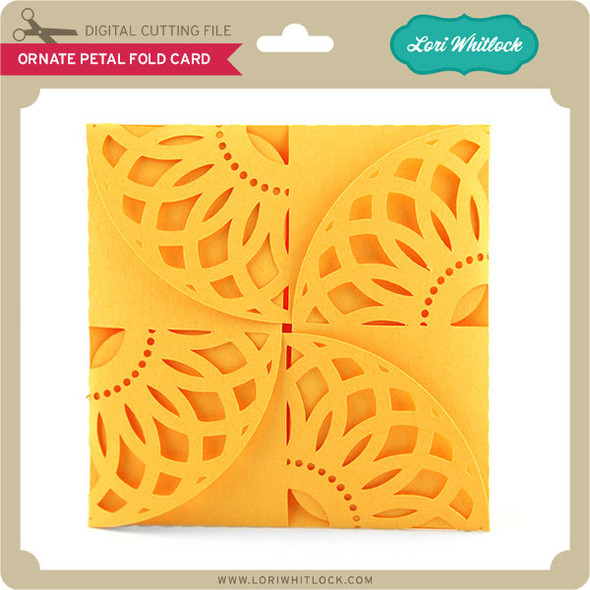Ornate Petal Fold Card