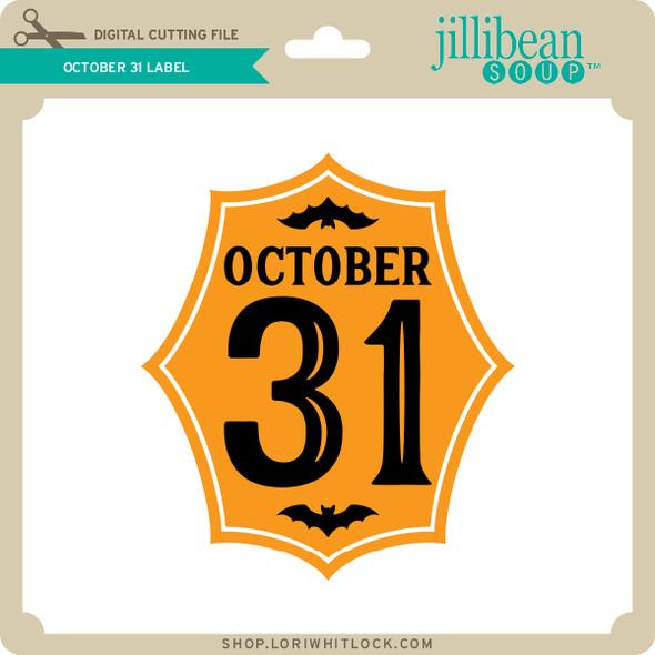 October 31 Label
