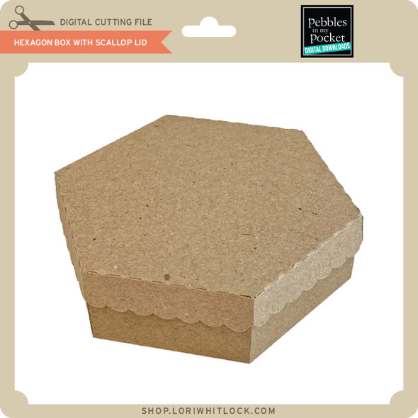Hexagon Box with Scallop Lid