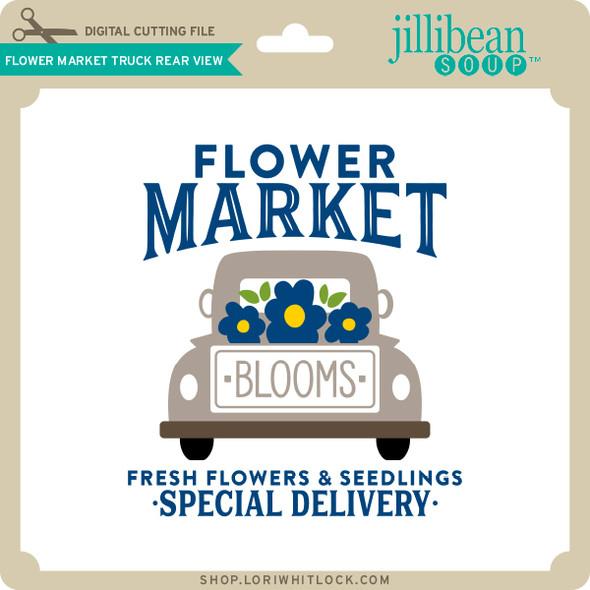 Flower Market Truck Rear View