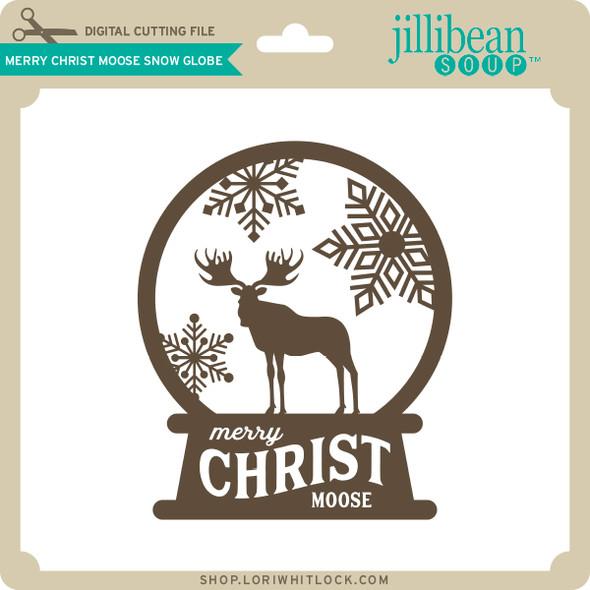 Merry Christ Moose Snow Globe