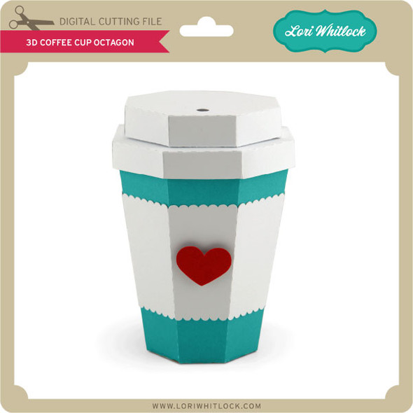 3D Coffee Cup Octagon