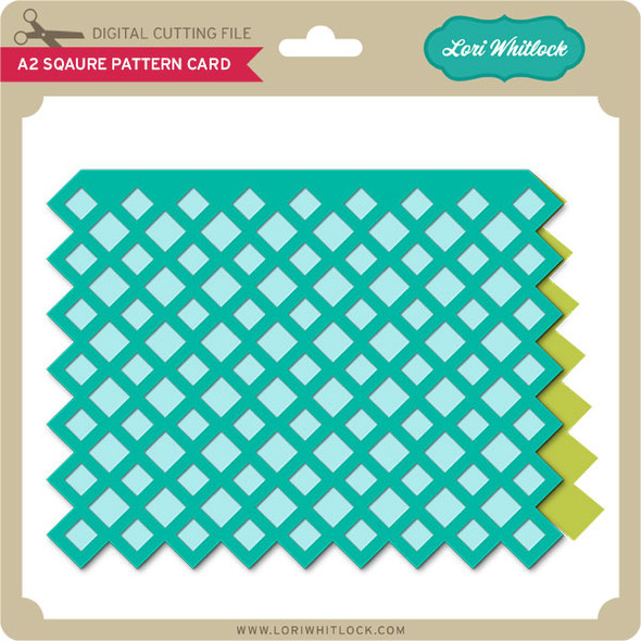 A2 Square Pattern Card